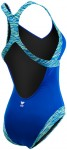 Women's Sonoma V-Neck Open Back Royal Swimsuit - Back View | TYR Sport
