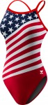 Women's Stars and Stripes Crosscutfit Swimsuit American Flag Swimsuit