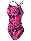 Women's TYR Pink Disco Inferno Diamondfit Swimsuit