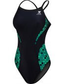 Girl's Team Check Splice Diamondfit Swimsuit