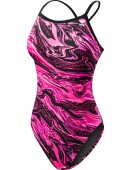 Women's TYR Pink Oil Slick Diamondfit Swimsuit