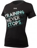 Women's Training Never Stops Graphic T-Shirt