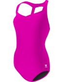 Women's TYR Pink Solid Halter Controlfit Swimsuit