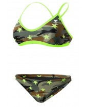 Women's Camo Star Crosscutfit Workout Bikini