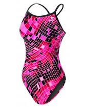 Girl's TYR Pink Disco Inferno Diamondfit Swimsuit