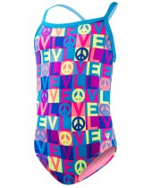 Girl's Peace & Love Diamondfit Swimsuit