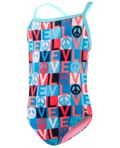 Girls' Peace & Love Diamondfit Swimsuit