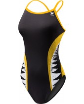 Girls' Shark Bite Diamondfit Swimsuit
