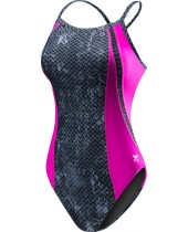 Girls' TYR Pink Diamondfit Swimsuit