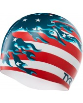 Blazing Patriot Swim Cap