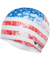 Old Glory Flag Swim Cap