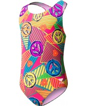 Girl's Peace, Love, Swim Maxfit