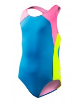Girl's Solid Splice Maxfit Swimsuit