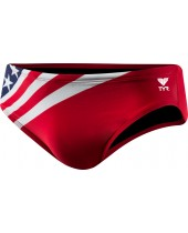 "Men's American Flag 2"" Racer Swimsuit"