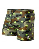 Men's Camo Star All Over Square Leg Swimsuit