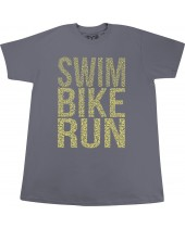 Men's Swim Bike Run Graphic Tee