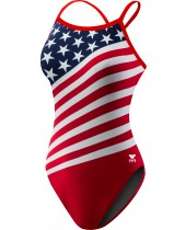 Women's American Flag Crosscutfit Swimsuit