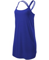 Women's Solid Layback Dress