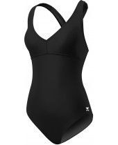 Women's Solid Halter Twist Controlfit Swimsuit