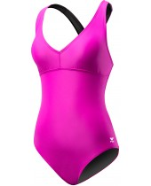 Women's Plus Size Solid Halter Twist Controlfit Swimsuit