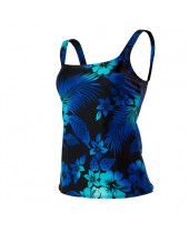 Women's Hawaiian Nights Aqua Tankini Swimsuit