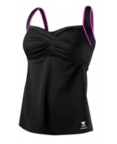 Women's TYR Pink Twisted Bra Tankini