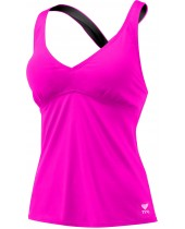 Women's Solid Halter Twist Tankini