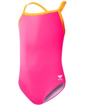 Girls' Solid Diamondfit Swimsuit