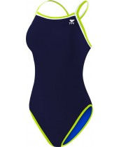 Women's Solid Brites Reversible Diamondfit Swimsuit