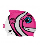 Kid's CharacTYR Happy Fish Swim Cap