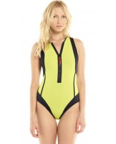 Women's HB Flirt Zipper One Piece Swimsuit