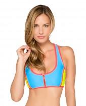 Women's HB Solid Zipper Racerback Bikini