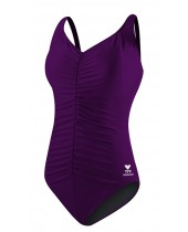 Women's Solid Shirred Front Tank Swimsuit