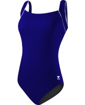 Women's Plus Size Solid Square Neck Controlfit Swimsuit