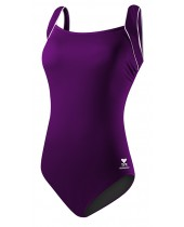 Women's Solid Square Neck Tank Swimsuit