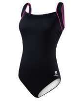 Women's Plus Size TYR Pink Square Neck Controlfit Swimsuit