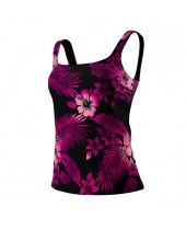 Women's Hawaiian Nights Aqua Tankini Swimsuit