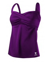 Women's Solid Twisted Bra Tankini
