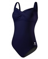 Women's Solid Twisted Bra Tank Swimsuit