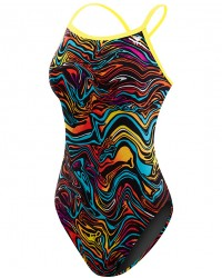 TYR Girls' Heat Wave Diamondfit Swimsuit