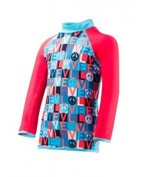 Girls' Peace & Love Rashguard