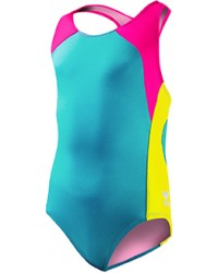 Girls' Solid Splice Maxfit Swimsuit