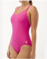 Women's TYR Pink Halter Controlfit Swimsuit