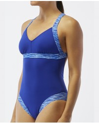 Women's V-Neck Open Back Swimsuit- Sonoma