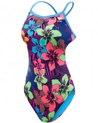 TYR Girls' Ohana Crosscutfit Tieback Swimsuit