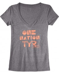 TYR Women's One Nation V-Neck Tee