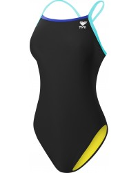 Women's Solid Brites Diamondfit Swimsuit