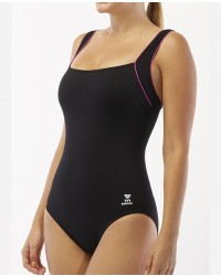 Women's TYR Pink Square Neck Controlfit Swimsuit