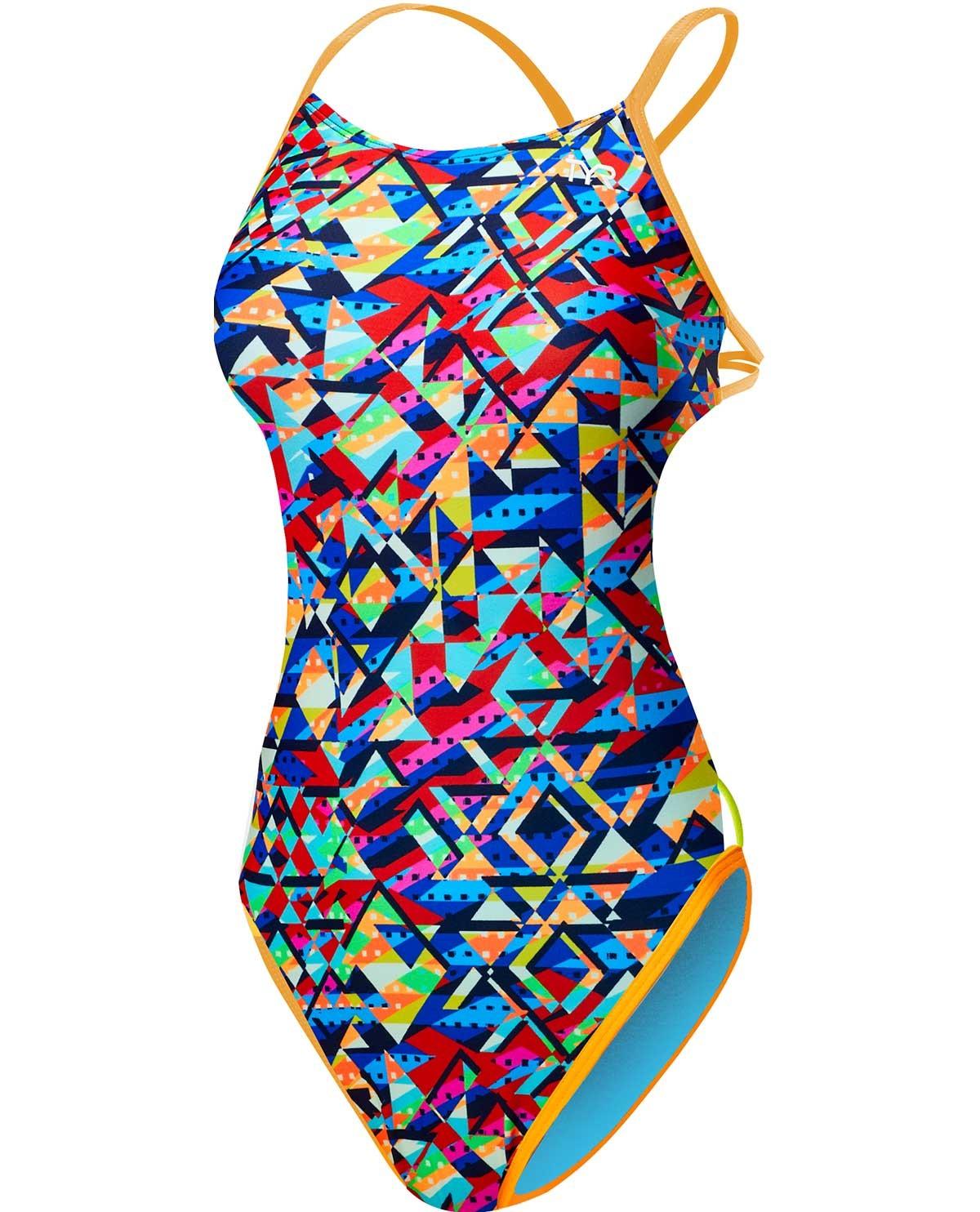 TYR Girls' Mosaic Mojave Cutoutfit Swimsuit
