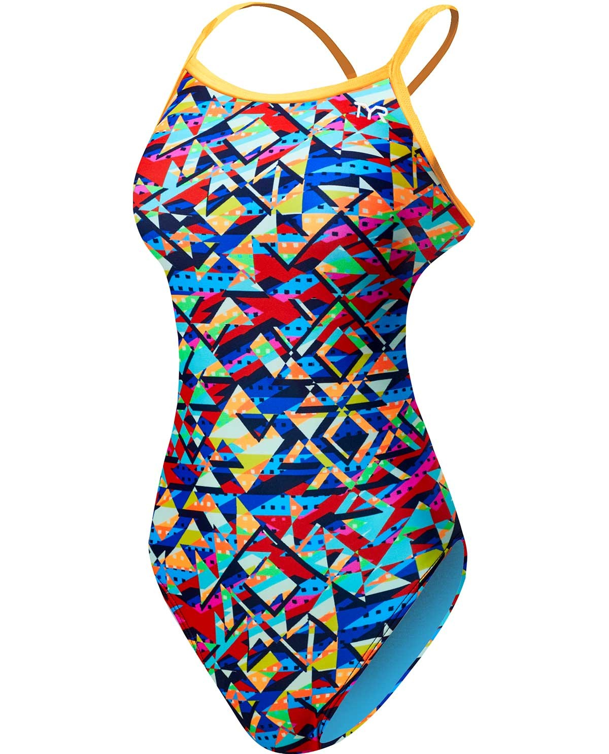 TYR Girls' Mosaic Diamondfit Swimsuit